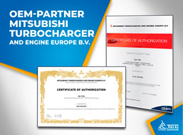 ГК ТСС – официальный OEM партнёр Mitsubishi Turbocharger and Engine Europe B.V.
